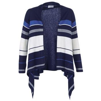 textil Dam Koftor / Cardigans / Västar Casual Attitude IHARINE Marin / Vit