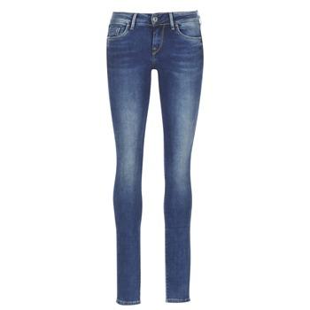 textil Dam Stuprörsjeans Pepe jeans SOHO Z63 / Blå