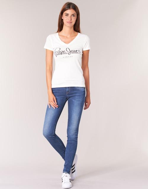 textil Dam Skinny Jeans Pepe jeans SOHO Z63 / Blå