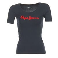 textil Dam T-shirts Pepe jeans MARIA Svart
