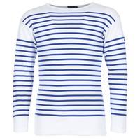 textil Herr Långärmade T-shirts Armor Lux DISJON Vit / Blå