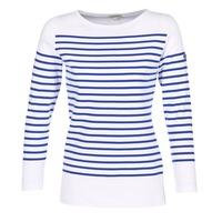 textil Dam Långärmade T-shirts Armor Lux ROADY Vit / Blå