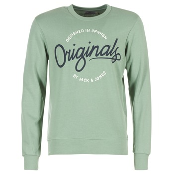 textil Herr Sweatshirts Jack & Jones SWEEP ORIGINALS Grön
