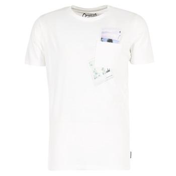 textil Herr T-shirts Jack & Jones CHECK ORIGINALS Vit