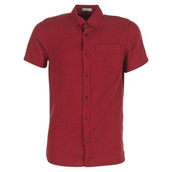 textil Herr Kortärmade skjortor Jack & Jones JOHAN ORIGINALS Röd