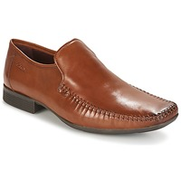 Skor Herr Loafers Clarks Ferro Step Tan (mellanbrun) / Leather