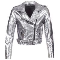 textil Dam Skinnjackor & Jackor i fuskläder Only ANN Silverfärgad