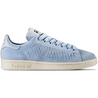 Skor Dam Sneakers adidas Originals Stan Smith Beige,Blå