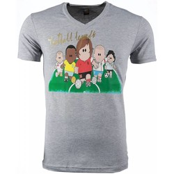 textil Herr T-shirts Local Fanatic Football Legends Print Grå