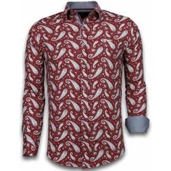 textil Herr Långärmade skjortor Tony Backer För Bordeau Bordeaux
