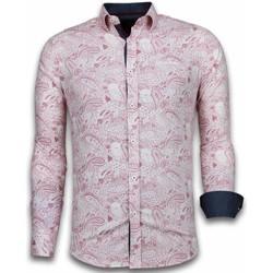 textil Herr Långärmade skjortor Tony Backer Iga Kläder Rosa