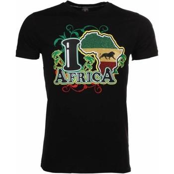 textil Herr T-shirts Local Fanatic I Love Africa Zwart Svart