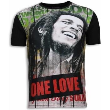 textil Herr T-shirts Local Fanatic Bob Marley One Love Svart