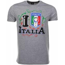 textil Herr T-shirts Local Fanatic  grå