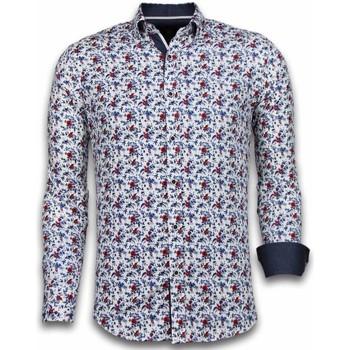 textil Herr Långärmade skjortor Tony Backer  Vit