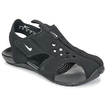 Skor Pojkar Sandaler Nike SUNRAY PROTECT 2 TODDLER Svart / Vit