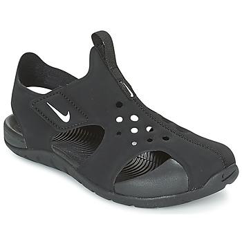 Skor Pojkar Sandaler Nike SUNRAY PROTECT 2 CADET Svart / Vit