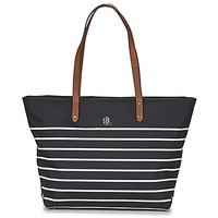 Väskor Dam Shoppingväskor Lauren Ralph Lauren BAINBRIDGE TOTE Svart / Vit