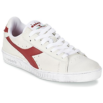 Skor Sneakers Diadora GAME L LOW WAXED Vit / Röd