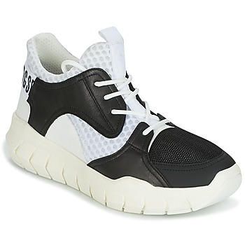 Skor Herr Sneakers Bikkembergs FIGHTER 2022 LEATHER Svart / Vit
