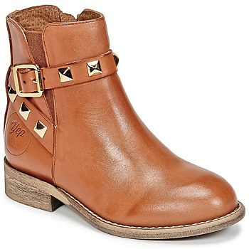 Skor Flick Boots Young Elegant People CELIAL Cognac