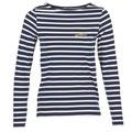 textil Dam Långärmade T-shirts Betty London IFLIGEME Marin / Vit