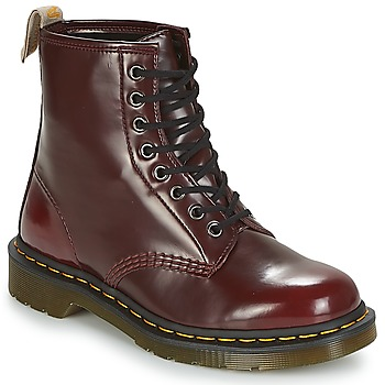 Skor Dam Boots Dr Martens VEGAN 1460 Röd