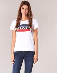 textil Dam T-shirts Levi's THE PERFECT TEE Vit