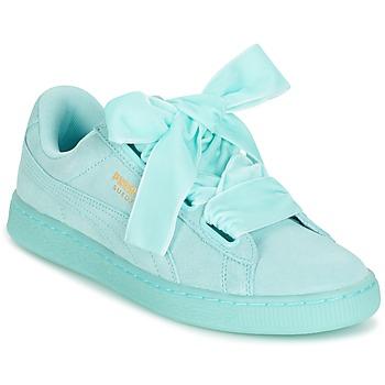 Skor Dam Sneakers Puma SUEDE HEART RESET WN'S Blå / Pastell