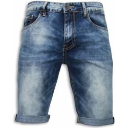 textil Herr Shorts / Bermudas True Rise Shorts Korta Jeansshorts Blå