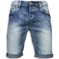 textil Herr Shorts / Bermudas True Rise Slitna Shorts Ljusa Jeansshorts Blå