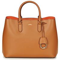 Väskor Dam Handväskor med kort rem Ralph Lauren DRYDEN MARCY TOTE Cognac / Orange