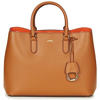 Väskor Dam Handväskor med kort rem Lauren Ralph Lauren DRYDEN MARCY TOTE Cognac / Orange