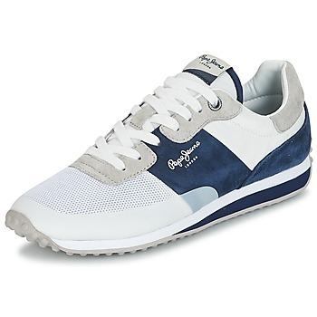 Skor Herr Sneakers Pepe jeans GARRET SAILOR Vit / Blå