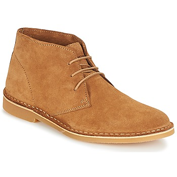 Skor Herr Boots Selected SHH ROYCE LIGHT SUEDE BOOT Cognac