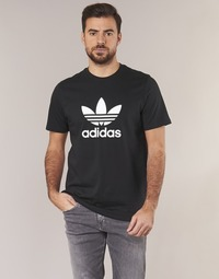 textil Herr T-shirts adidas Originals TREFOIL T SHIRT Svart