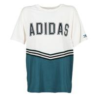 textil Dam T-shirts adidas Originals ADIBREAK SS TEE Vit / Marin