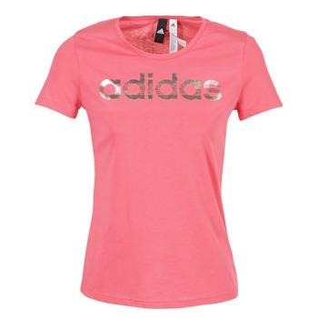 textil Dam T-shirts adidas Performance FOIL LINEAR Rosa