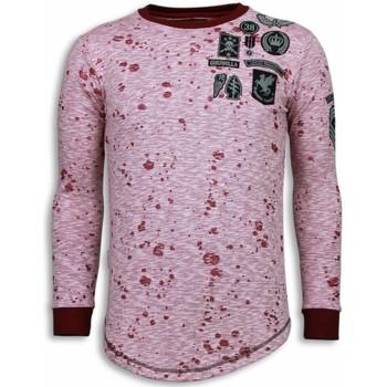 textil Herr Sweatshirts Local Fanatic Longfit Guerrilla Patches LFR Rosa
