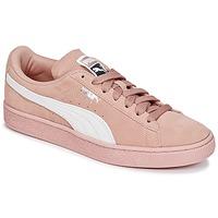 Skor Dam Sneakers Puma SUEDE CLASSIC W'S Rosa / Vit