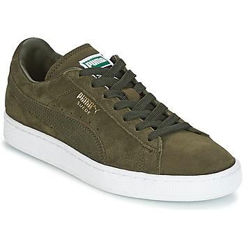 Skor Sneakers Puma SUEDE CLASSIC + Kaki / Vit