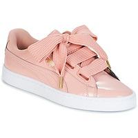 Skor Dam Sneakers Puma BASKET HEART PATENT W'S Rosa