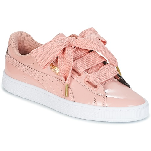 finest selection a6a64 3c085 Skor Dam Sneakers Puma BASKET HEART PATENT W S Rosa