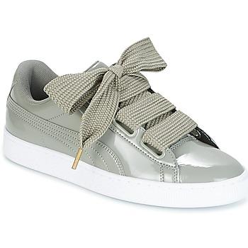 Skor Dam Sneakers Puma BASKET HEART PATENT W'S Grå
