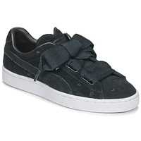Skor Flickor Sneakers Puma SUEDE HEART VALENTINE JR Svart