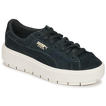 Skor Dam Sneakers Puma SUEDE PLATFORM TRACE W'S Svart / Vit