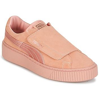 Skor Dam Sneakers Puma PLATFORMSTRAP SATIN EP W'S Rosa