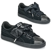 Skor Dam Sneakers Puma SUEDE HEART BUBBLE W'S Svart