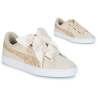 Skor Dam Sneakers Puma BASKET HEART CANVAS W'S Beige