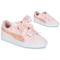Skor Dam Sneakers Puma BASKET HEART CANVAS W'S Rosa